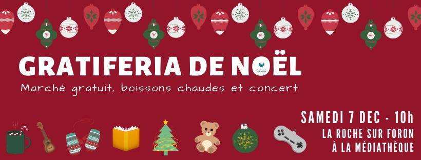 Venez participer à notre Gratiferia de Noël