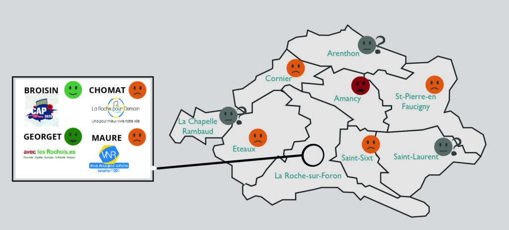 positionnement carte par communes